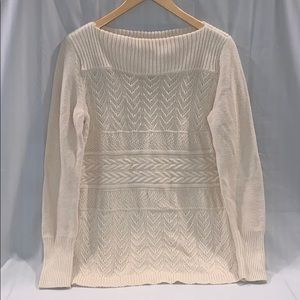 NWOT - Chaps Textures Boatneck Sweater